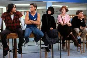 "Still from ""The Breakfast Club,"" from left Judd Nelson, Emilio Estevez, Ally Sheedy, Molly Ringwald, Anthony Michael Hall"