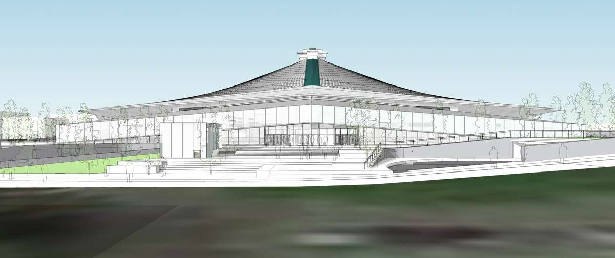 Updated renderings show Oak View Group's plans for a glass atrium on the south side of a redeveloped KeyArena.