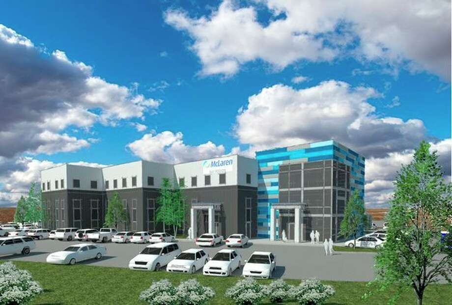 An artist's rendering of the new McLaren Bay Region Medical Office building on Joe Mann Boulevard. McLaren plans on seeing patients in early 2019. (Image provided)