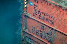 Okeanos Explorer found a 40-foot shipping container including washing machines and freezers, according to the NOAA Facebook page and website.