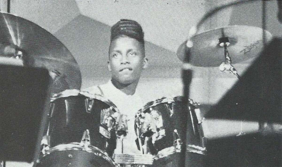 Dave, pictured in 1990, graduated from the High School for the Performing and Visual Arts and has become one of the most in-demand instrumentalists in pop, hip-hop, R&B and other styles.