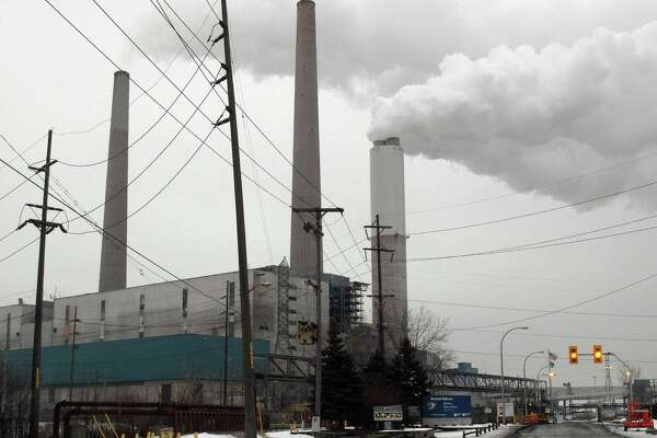 The Monroe Power Plant in Monroe, Mich., in a 2002 file image, consists of four generating units built in the early 1970s.