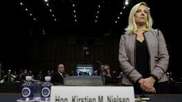 Homeland Security Secretary Kirstjen Nielsen arrives for a recent hearing held by the Senate Judiciary Committee. She was questioned about derogatory language reportedly used by President Donald Trump during a meeting on immigration. Readers offer varying opinions on this and other controversies in the Trump White House.