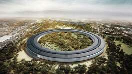 An artist's rendering in 2012, shows the proposed new Apple Inc. campus, which would have 2.8 million square feet of office space and sit on 175 landscaped acres in Cupertino, California. Silicon Valley companies are prime examples of workers job hopping constantly.