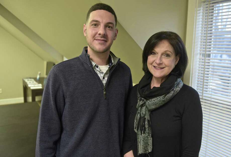 Matthew DeLuca and his mother Donna DeLuca, founder of C.A.R.E.S., a support group for families of people suffering from substance abuse. Friday, Januaru 19, 2018, in Danbury, Conn. Photo: H John Voorhees III / Hearst Connecticut Media / The News-Times