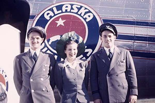 Alaska Airlines uniforms of the 1940s.