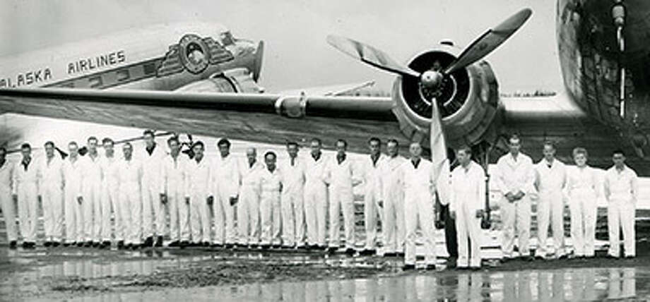 Alaska Airlines uniforms of the 1940s. Photo: Courtesy Alaska Airlines