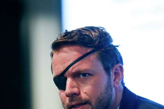 United States Congressional District 2 candidate Dan Crenshaw speaks during the Houston Congressional Candidate Forum at Houston's First Baptist Church Thursday, Jan. 18, 2018 in Houston.