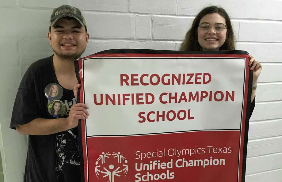Dominic Cavazos, 18, and Carrie Mullins, 17, are old friends and co-presidents of a club at Alamo Heights High School that was key to the school's integration of disabled students with their peers. It became the first in Texas to be named a Recognized Unified Champion School under a national competition affiliated with the Special Olympics. Photo: /Courtesy