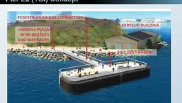New $15 million fishing pier being planned for the base of the eastern span of the Bay Bridge off Yerba Buena Island.