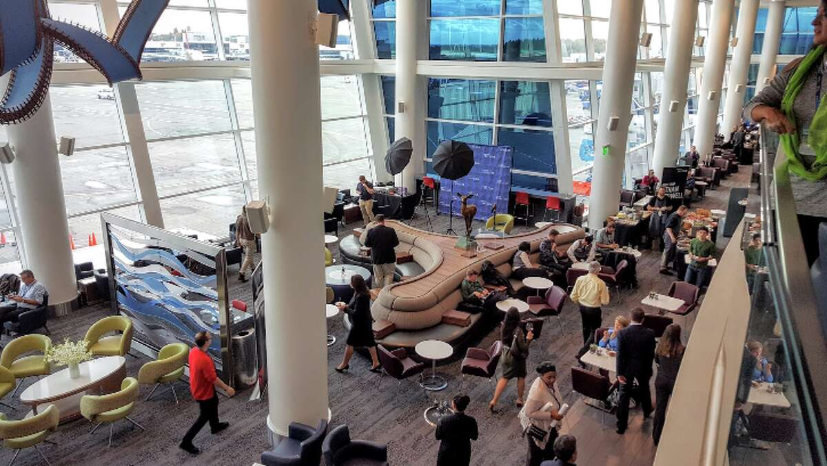 Delta's Sky Clubs like this one in in Seattle are getting tougher to visit