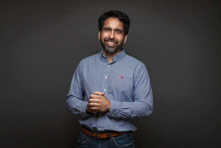 Salman Khan founder of Khan Academy, a non-profit educational organization created in 2006, Wednesday 17  January 2018 in San Francisco, CA. Photo: Peter DaSilva