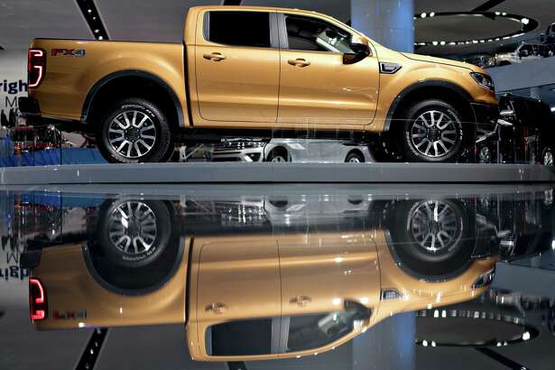 The 2019 Ford Motor Co. Ranger midsize pickup truck is displayed this week at an auto show in Detroit.