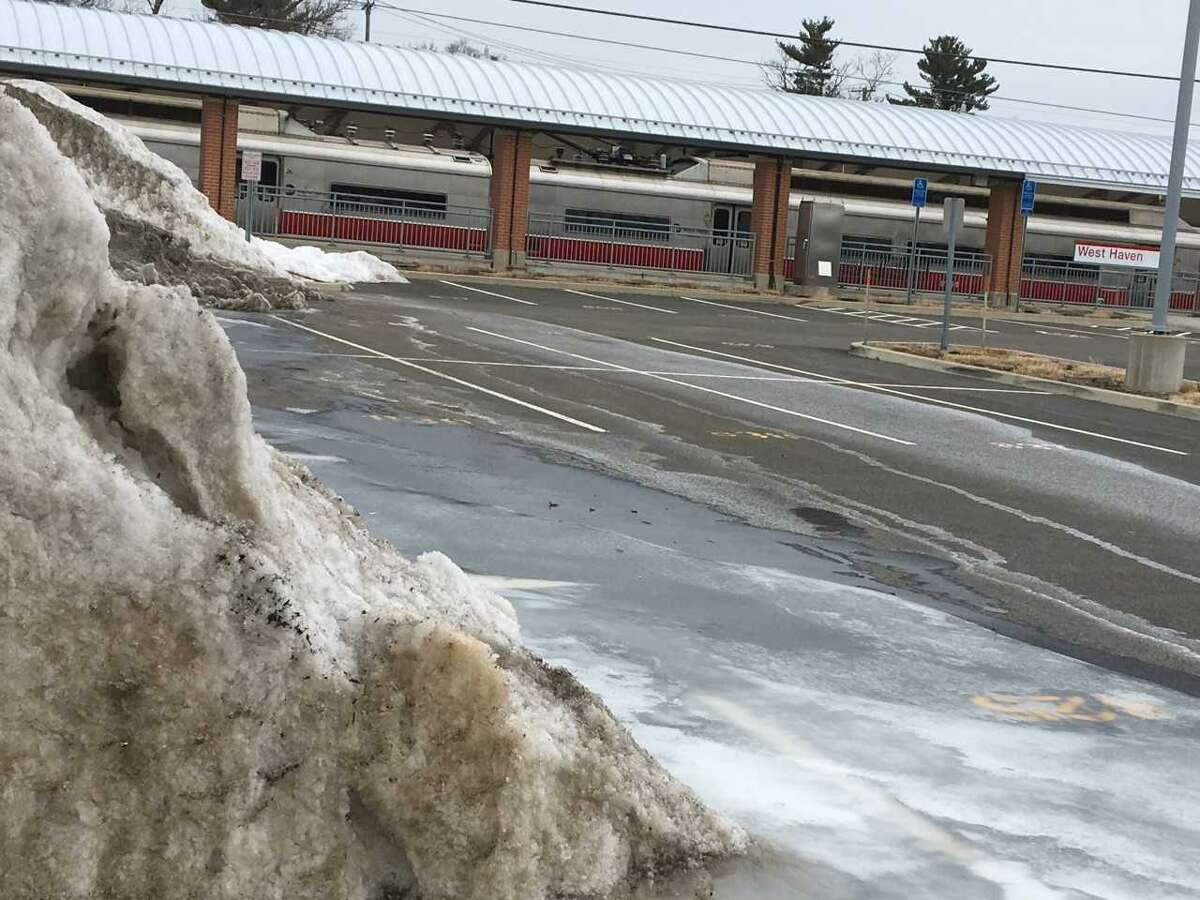 West Haven railroad station advocateMichael Mercuriano says the state Department of Transportation is hindering development of the West Haven Metro-North railroad station's ridership by blocking off dozens of parking spaces for storage of plowed snow.