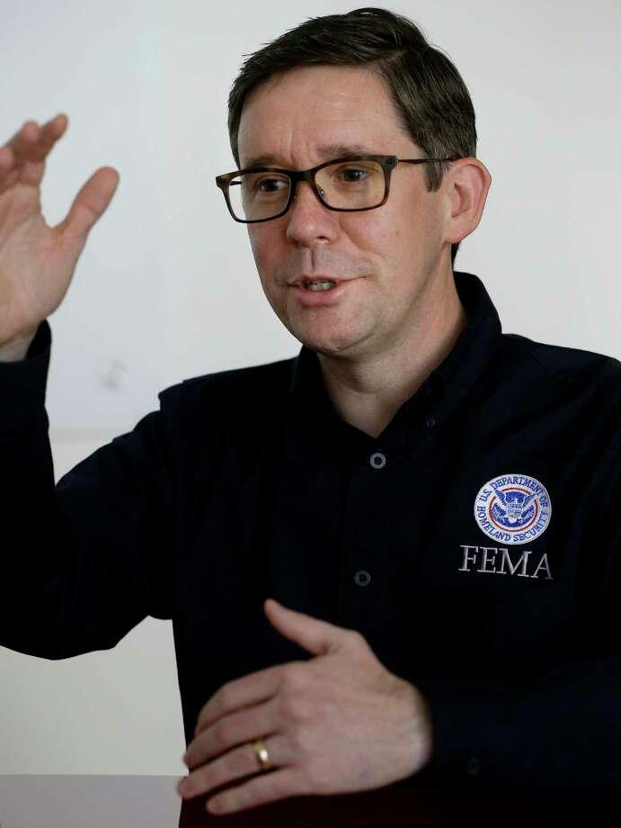Roy E. Wright, president of FEMA flood insurance program, speaks Thursday, Sept. 7, 2017, in Houston. ( Melissa Phillip / Houston Chronicle ) Photo: Melissa Phillip, Staff / © 2017 Houston Chronicle