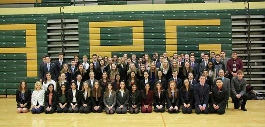 Members of the Dow High DECA club pose for a photograph. (Photo provided)