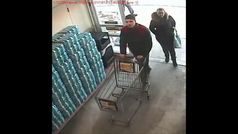 Bethel police are asking the public to help them identify the two suspects in an investigation into a theft that occurred at the Big Y at 83 Stony Hill Road on Jan. 10, 2018. Photo: Bethel Police Department