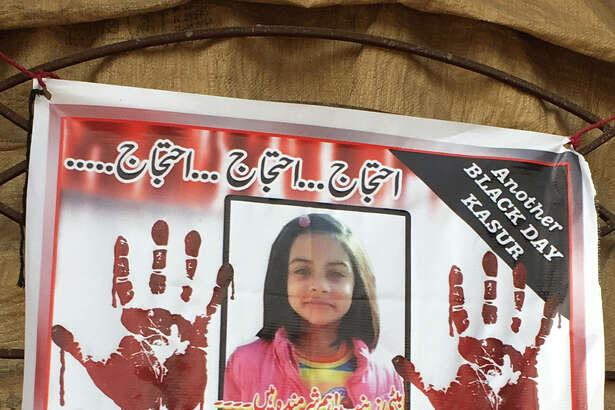Posters of 7-year-old Zainab Amin, whose rape and murder in Kasur, Pakistan, shocked the nation, have been posted all over her community.