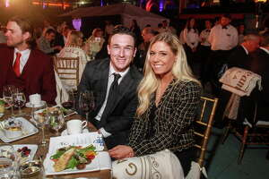 Alex Bregman and Brittany Gibson at the Astros Foundation annual Diamond Dreams Gala.