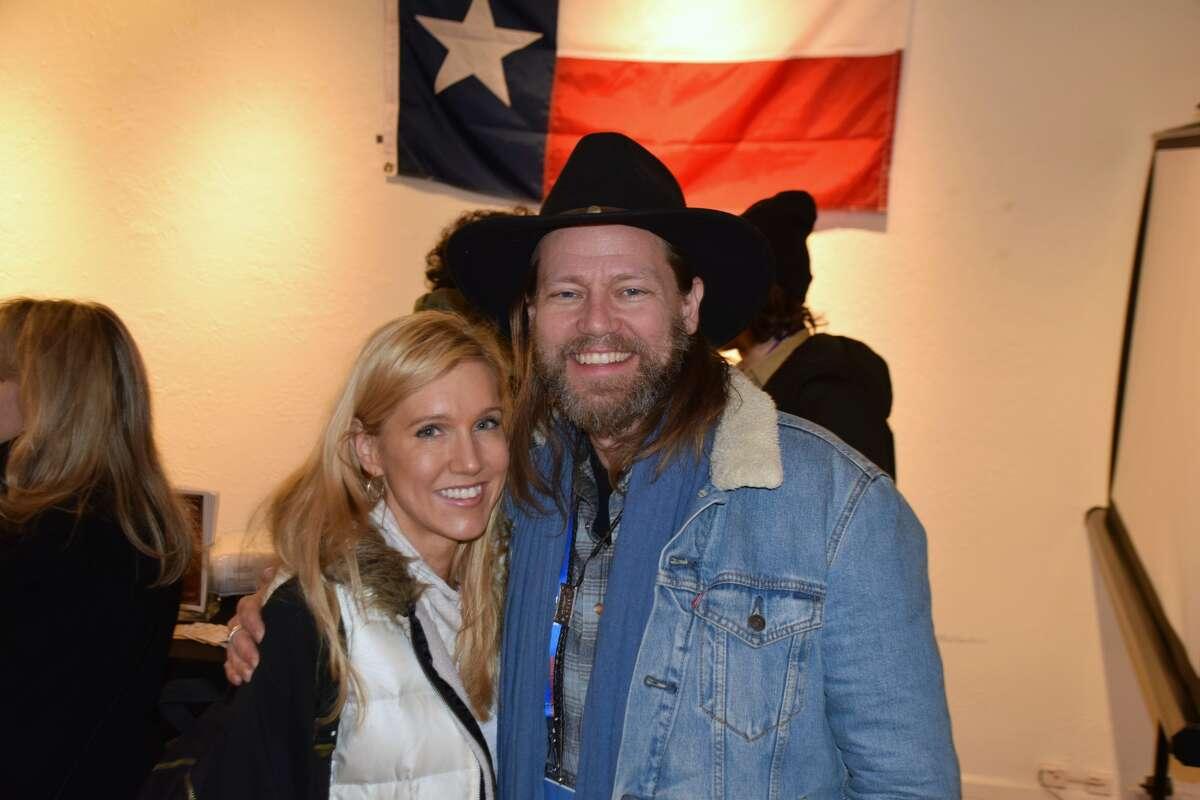 Liz Cardenas & Geoff Marslett at the Texas Film Commission's Sundance Film Festival party.