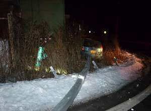 Driver in Glenville, who had been traveling at speeds over 100 mph, lost control of his vehicle at 1:35 a.m. Saturday Jan. 20, 2018, striking guard rails at the intersection of Maple and Alplaus Ave. causing an accident and almost hitting a house. The driver only had a learner's permit, police said.