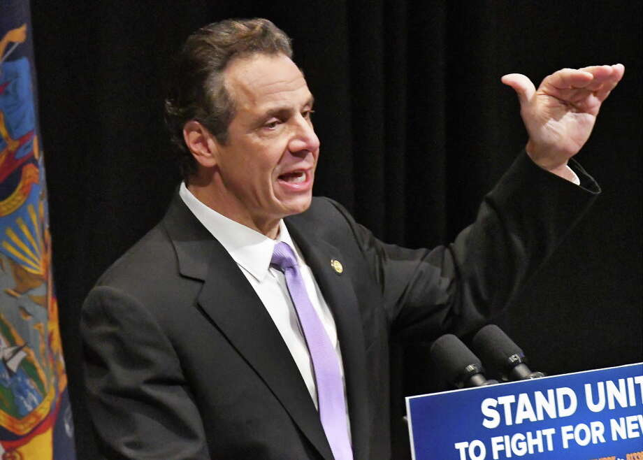 Gov. Andrew Cuomo delivers his proposed 2018-19 state budget plan at the State Museum on Tuesday, Jan. 16, 2018, in Albany, N.Y.  (John Carl D'Annibale/Times Union) Photo: John Carl D'Annibale / 20042663A