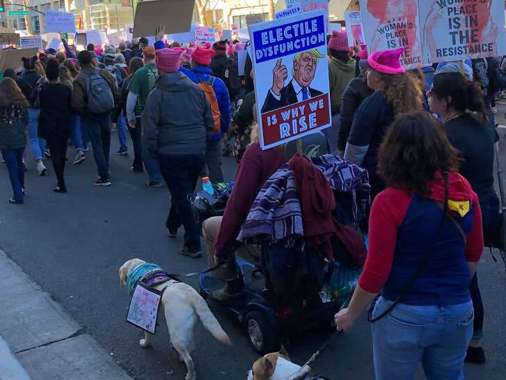 Thousands of people marched through the streets of San Jose on Saturday to take part in the second annual Women's March.
