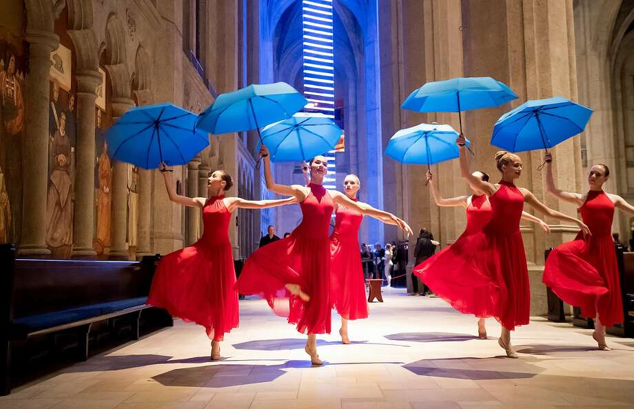 Students from the San Jose Dance Theatre perform during the San Francisco Movement Arts Festival, which brought dozens of dance companies and solo artists representing a variety of dance dance styles to Grace Cathedral on Friday. Photo: Noah Berger, Special To The Chronicle