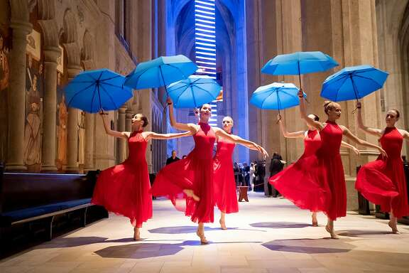 Students from the San Jose Dance Theatre perform during the San Francisco Music Arts Festival at Grace Cathedral on Friday, Jan. 19, 2018, in San Francisco.