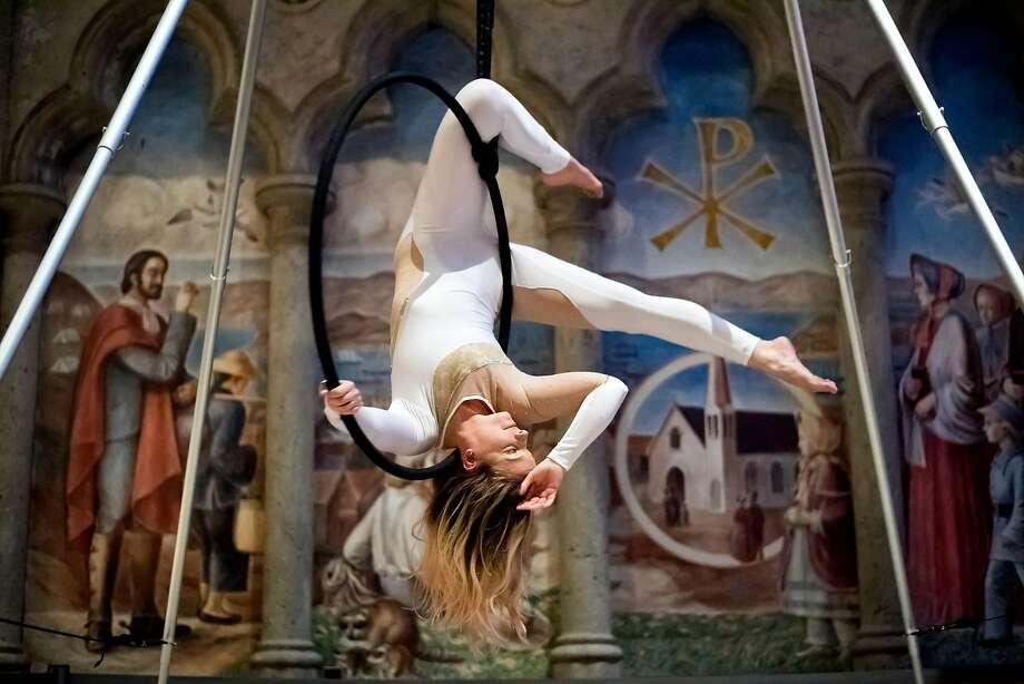 Karri Becker performs during the San Francisco Movement Arts Festival at Grace Cathedral. Photo: Noah Berger, Special To The Chronicle