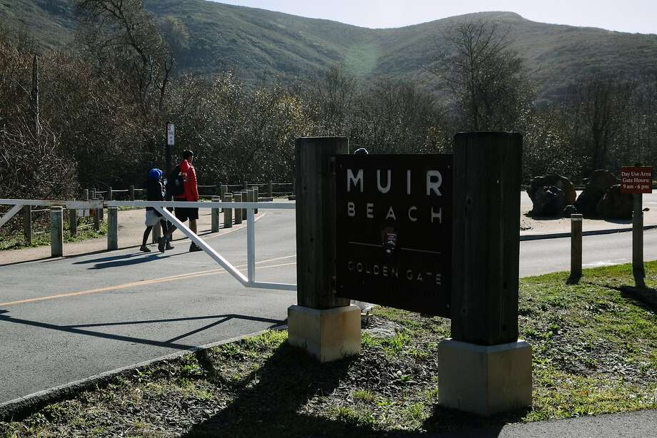 The parking lot and rest rooms at Muir Beach are closed because of the shut down. Photo: Mason Trinca, Special To The Chronicle