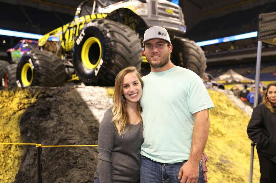 Monster trucks are taking over the Alamodome this weekend as Monster Jam fills S.A. craving for supercharged action. Photo: Marco Garza For MySA
