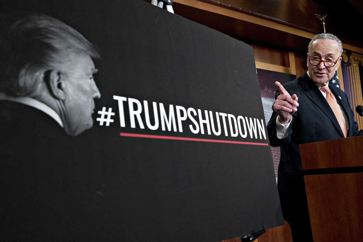Senate Minority Leader Chuck Schumer, D-N.Y., says a deal was reached with President Donald Trump until he backed down, prompting the standoff in the Senate that led to the shutdown.