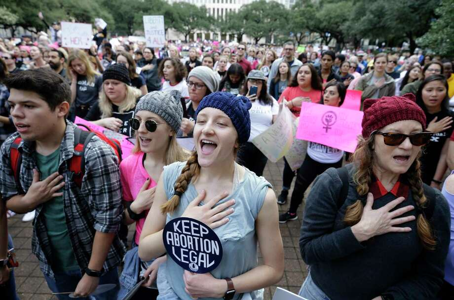 The Houston Women's March at City Hall. Photo: Melissa Phillip, Houston Chronicle / © 2018 Houston Chronicle