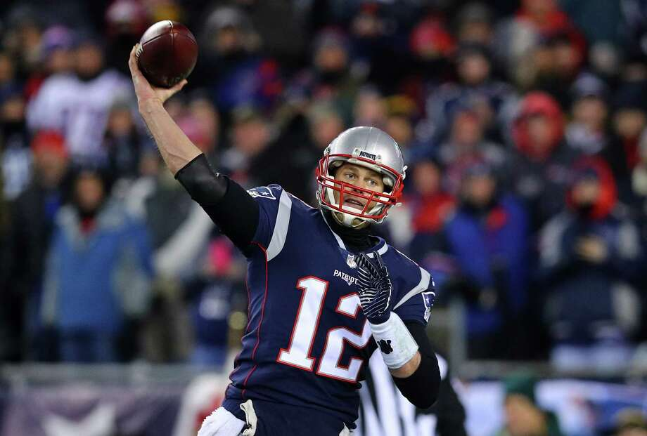 FOXBOROUGH, MA - JANUARY 13:  Tom Brady #12 of the New England Patriots throws in the second quarter of the AFC Divisional Playoff game against the Tennessee Titans  at Gillette Stadium on January 13, 2018 in Foxborough, Massachusetts.  (Photo by Maddie Meyer/Getty Images) Photo: Maddie Meyer / 2018 Getty Images