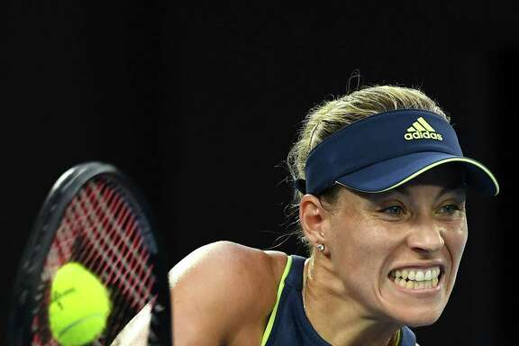 After a tough 2017, Angelique Kerber made her presence known with a 6-1, 6-3 third-round win over Maria Sharapova on Saturday at the Australian Open.