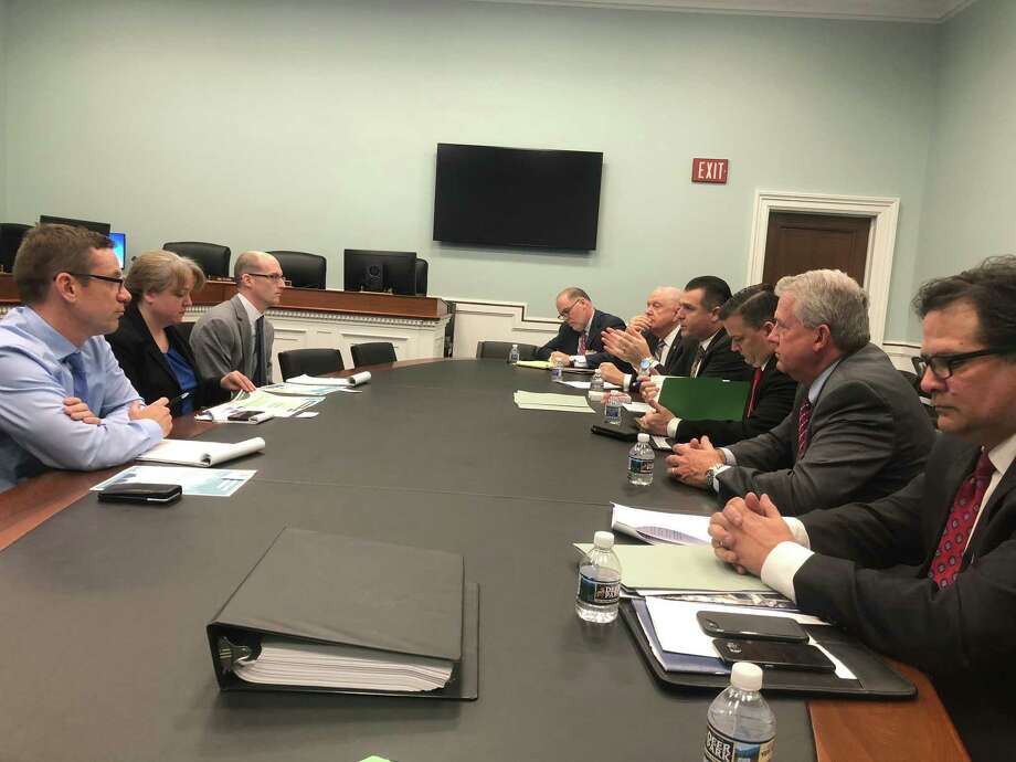 A handful of county officials made the trip to Washington D.C. this week to let legislators know just how important legislation which could provide $81 billion for disaster assistance is for Montgomery County. Photo: Evan Besong