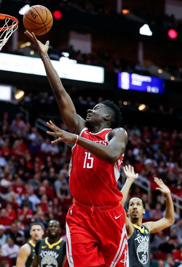 Houston center Clint Capela averages 10.7 rebounds, the seventh-best rate in the NBA. Photo: Brett Coomer, Houston Chronicle
