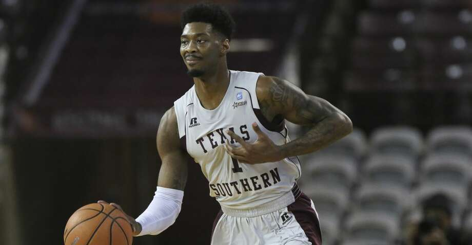 Texas Southern was without guard Demontrae Jefferson who's suspended indefinitely for a violation of team rules. Minus the Southwestern Athletic Conference's leading scorer, guard Donte Clark's game and career-high 41 points helped carry the Tigers as their other guards struggled to produce through a sluggish start. Photo: Yi-Chin Lee/Houston Chronicle