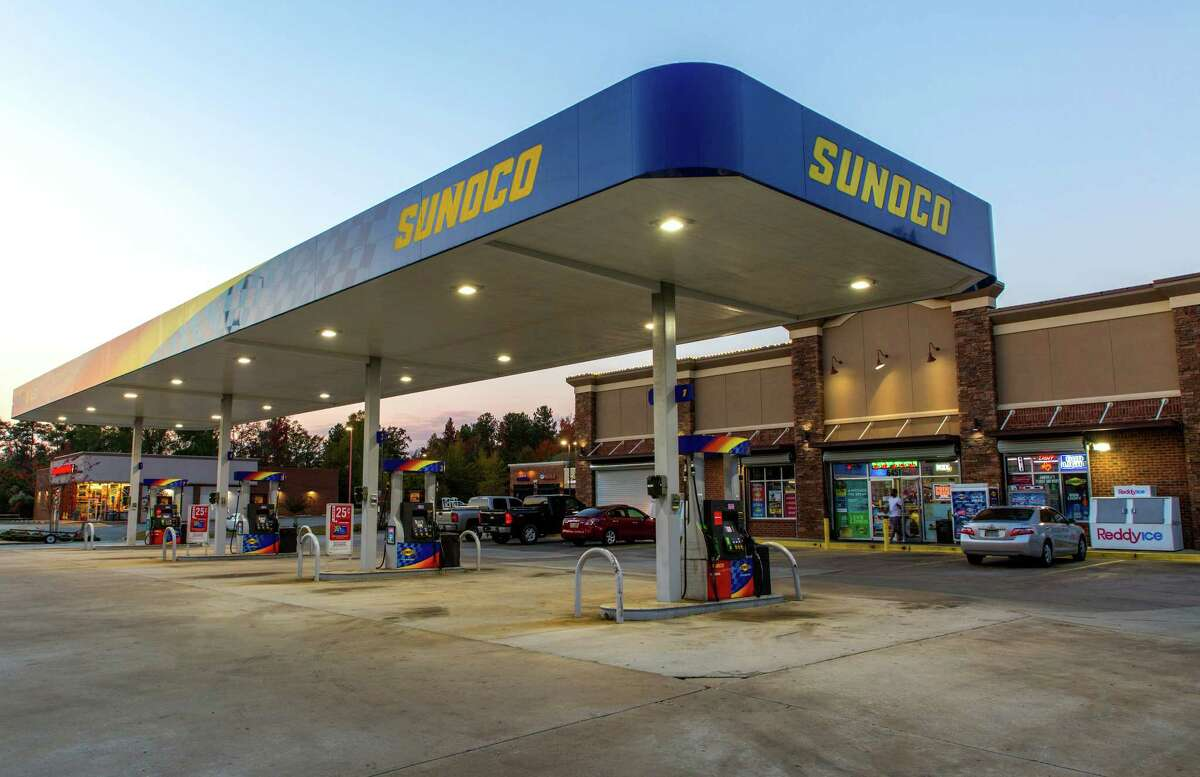 Vehicles parked outside of a convenience store at a Sunoco gas station in Macon, Georgia, on Nov. 5, 2017.
