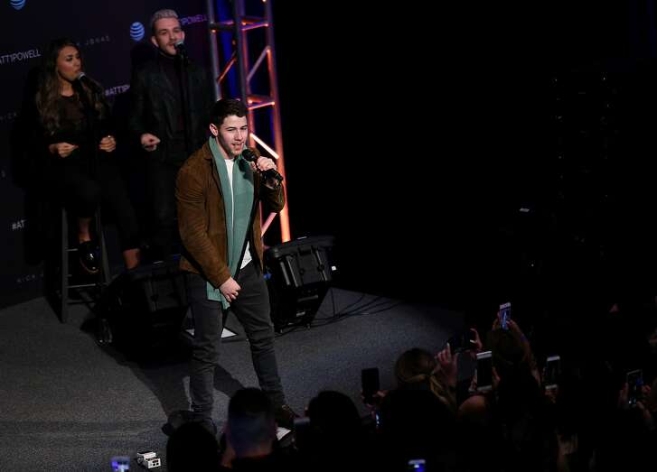 Nick Jonas performs at AT&T 1 Powell, Saturday, Jan. 20, 2018, in San Francisco, Calif.