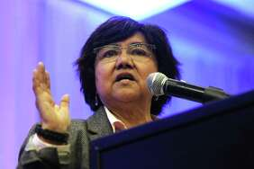 Democratic gubernatorial candidate Lupe Valdez speaks during a forum at Texas AFL-CIO's COPE convention at the Sheraton Austin hotel on Saturday, Jan. 20, 2018.
