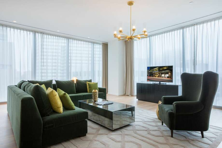 The 1,600-square-foot Presidential Suite at Hotel Alessandra features floor-to-ceiling windows, a wet bar, full dining area, a private entrance, and other amenities. Photo: Shannon O'Hara