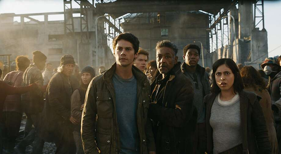 "Dylan O'Brien, Giancarlo Esposito and Rosa Salazar star as rebels in ""Maze Runner: The Death Cure."" Photo: Twentieth Century Fox"