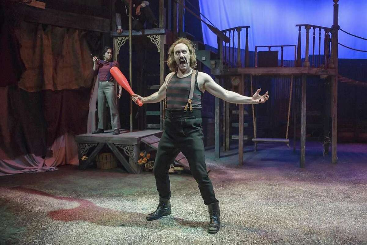 """From left:�Nicole Bruno and Will Springhorn Jr. in Hillbarn Theatre�s """"Peter and the Starcatcher."""""""