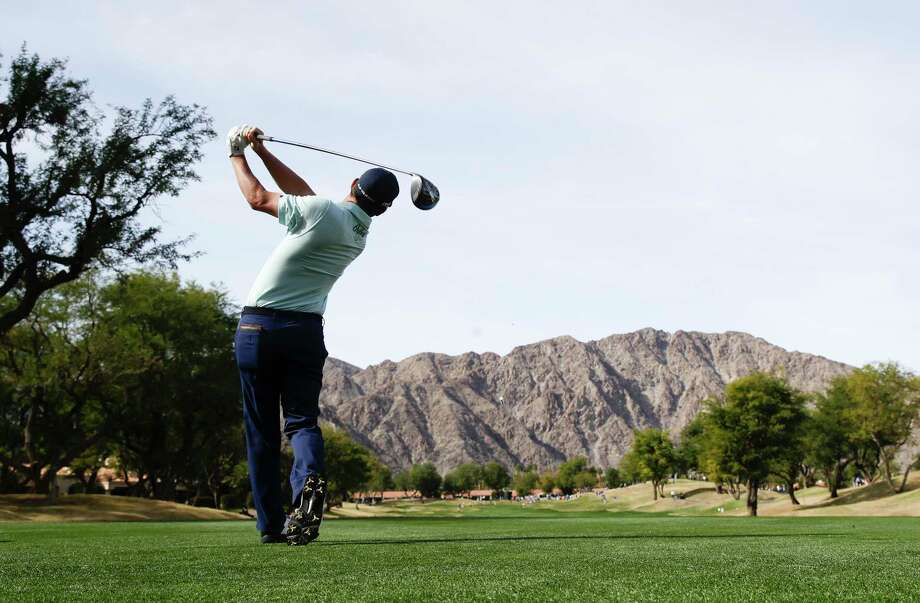 Andrew Landry watches his tee shot on the third hole during the final round of the CareerBuilder Challenge golf tournament on the Stadium Course at PGA West, Sunday, Jan. 21, 2018, in La Quinta, Calif. Photo: Chris Carlson, AP / Copyright 2018 The Associated Press. All rights reserved.