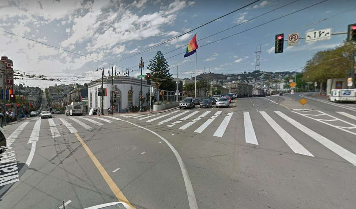 Near the intersection of Castro and 17th Streets.