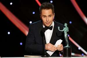 LOS ANGELES, CA - JANUARY 21:  Actor Sam Rockwell accepts the Outstanding Performance by a Male Actor in a Supporting Role award for 'Three Billboards Outside Ebbing, Missouri' onstage during the 24th Annual Screen Actors Guild Awards at The Shrine Auditorium on January 21, 2018 in Los Angeles, California. 27522_013  (Photo by Kevin Winter/Getty Images)