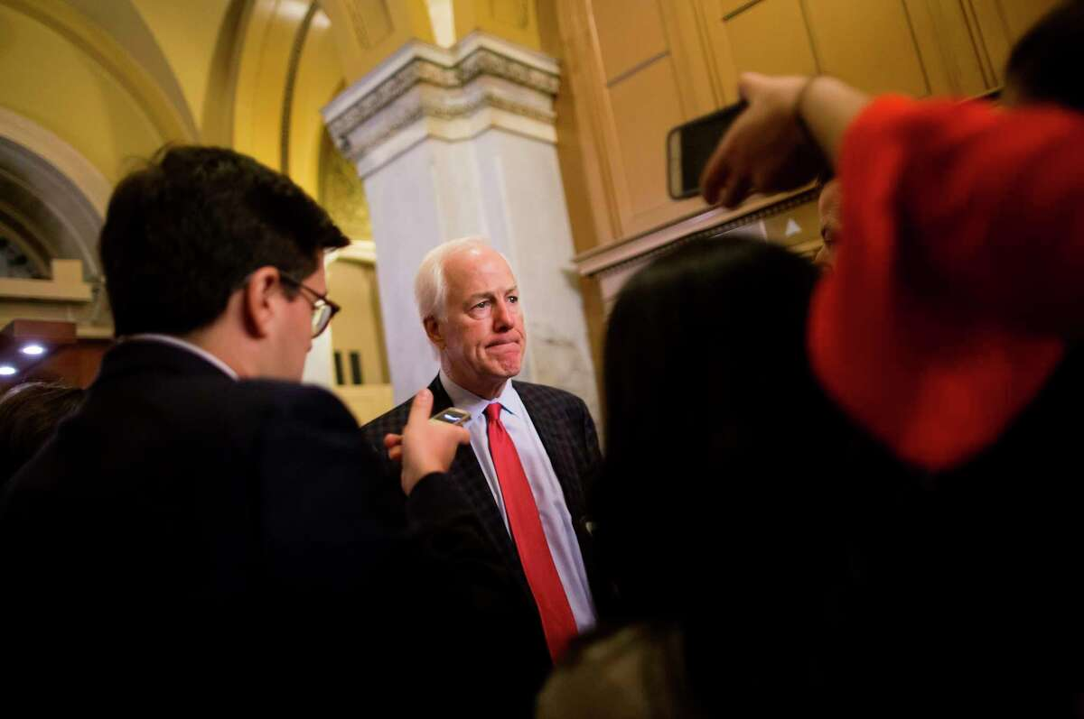 U.S. Sen. John Cornyn, R-Texas, sounded a pessimistic note early Sunday evening, predicting the government would remain shut down on Monday despite efforts to strike a deal.