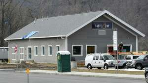 Renovation and expansion work continues to the Taste NY store on the Thruway westbound at Lock 13 on Monday, April 3, 2017, in Montgomery County near Fultonville, N.Y. (Will Waldron/Times Union)